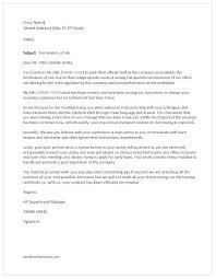 Termination Letter Due To Poor Performance Danielpirciu Co