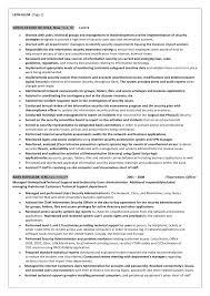 2 information system officer resume