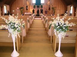 Simple Church Wedding Aisle Decorations