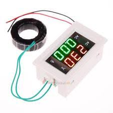 digital amp meter 500v 100a digital voltmeter ammeter led amp volt meter ac current transformer