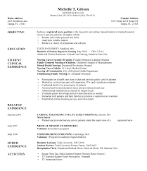 new nurse grad resume