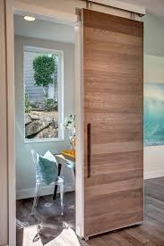 entryway office barn door. Modern Home Office With Beech Horizontal Plank Barn Door, Retro Design Chair Louis XV Entryway Door D