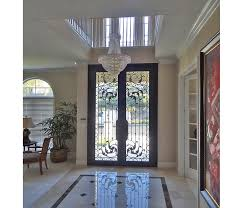 wrought iron exterior doors. Custom Wrought Iron Front Door Design Exterior Doors