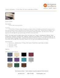 Purchasing Contact: Twila Caldwell, Spa Development International  602-882-3415 . 888-474-4SDI . twila@spadev.com Custom Cra