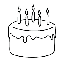 Coloring Pages Cake Page Birthday Pdf Pag Klubfogyas