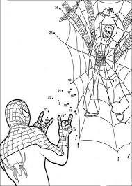 Unisci I Puntini E Colora Spiderman Disegno Da Colorare Gratis