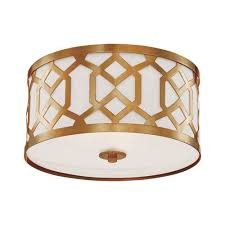 crystorama lighting group jennings aged brass three light ceiling mount by libby langdon
