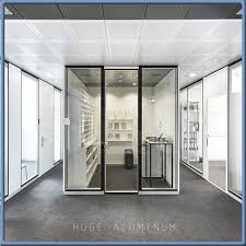 modern office tempered glass wall partition