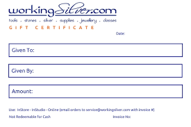 Gift Certificate Please Click On The Picture For Full Instructions