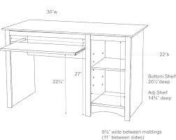 average desk size