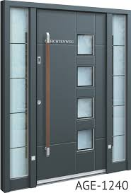modern front doors. Brown Handle Grey Contemporary Aluminium Front Door Modern Doors