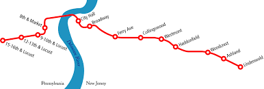 map of the patco sdline system