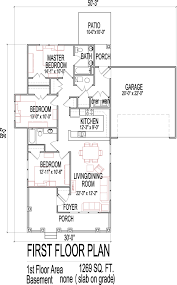 3 bedroom house floor plans design slab