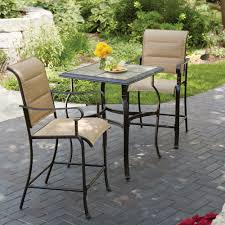 outdoor furniture. Modren Furniture Hampton Bay Belleville 3Piece Padded Sling Outdoor Bistro Set Intended Furniture