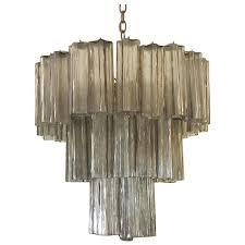 vintage murano glass tronchi three tier chandelier venini for