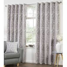 40 off camden damask woven chenille lined eyelet curtains silver