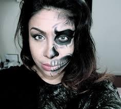 half human half skull face