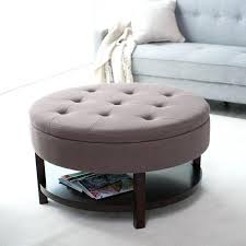 large round tufted ottoman large size of popular of large round ottoman coffee table with awesome