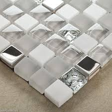 mirror stainless steel tile metal mixed stone bathroom tiles glass mosaic 3d tile