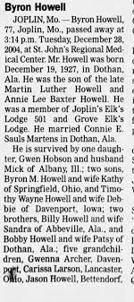 Byron Howell's Obituary - Part 1 - Newspapers.com