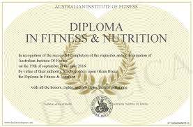 diploma in fitness nutrition