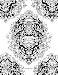 Damask Pattern Free Damask Pattern Free Adult Coloring Page By Karyn Lewis Illustration