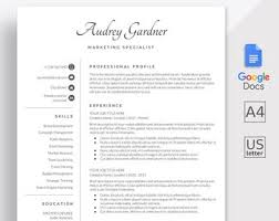 Using Google Docs Resume Template Google Docs Resume Etsy