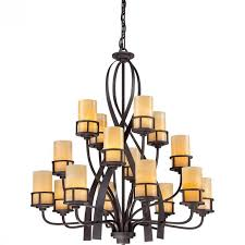 quoizel kyle three tier chandelier with 16 lights in imperial bronze