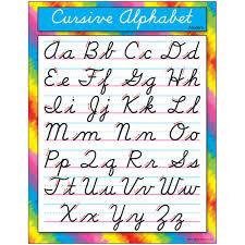 Details About Cursive Alphabet Modern Learning Chart Trend Enterprises Inc T 38137