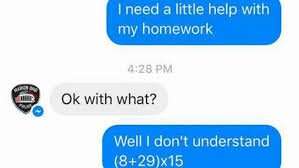 girl turns to police department for help on math homework necn girl turns to police department for help on math homework