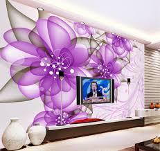 Purple Flower Wallpaper For Bedroom Aliexpresscom Buy Free Shipping 3d European Purple Flowers
