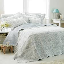 Paoletti Etoille Toile De Jouy Cotton Quilted Bedspread | eBay & Paoletti-Etoille-Toile-De-Jouy-Cotton-Quilted-Bedspread Adamdwight.com