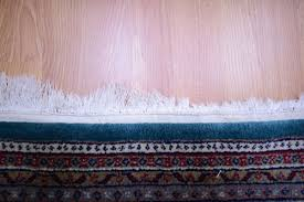 an oriental rug with damaged fringes before repair