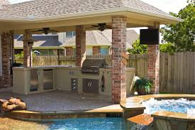 backyard pool and outdoor kitchen designs. Plain Designs Backyard Designs With Pool And Outdoor Kitchen U2014 The New Way Home Decor   Preparing Backyard Kitchen In Pool And Outdoor Designs L