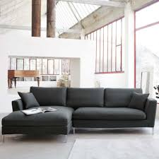 ... Fascinating Furniture For Living Room Decoration Using Black And Grey Sectional  Sofa : Elegant Picture Of ...