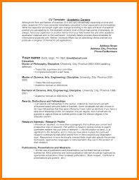 Academic Resume Examples Academic Cv Template Latex Academic