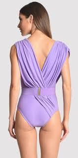 Athena Swimwear Size Chart Draped And Waisted Light Purple Swimsuit Runway Model Athena Quartz