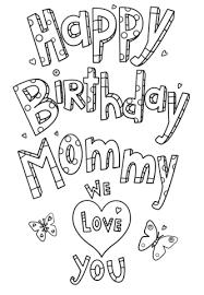 Disegno Di Disegno Buon Compleanno Mamma Da Colorare Disegni Da
