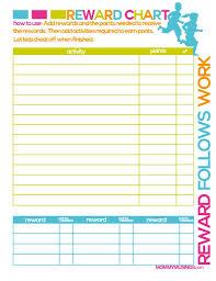 Free Printable Kids Rewards Chart Chore Rewards Kids