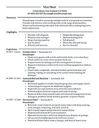Hospitality Resume Objective Examples Best Of Housekeeper Resume Should Be Able To Contain And Highlight Important