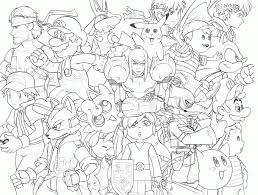 Small Picture Super Smash Brothers Coloring Pages And Bros itgodme