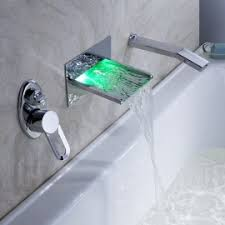 hand held shower head for bathtub faucet. delightful le havre wall mounted waterfall led bathtub faucets with pull-out handheld shower head hand held for faucet d