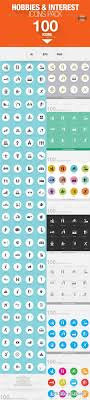 100 hobbies and interests icons photoshop vector 100 hobbies and interests icons