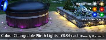garden led lighting strips. colour changeable led plinth and deck lights for the kitchen, bathroom, garden led lighting strips r
