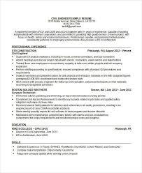 Environmental Health Safety Engineer Sample Resume Mesmerizing Free Engineering Resume Templates 48 Free Word PDF Documents