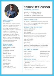 Template Network Engineer Resume And Cv Template In Adobe Photoshop