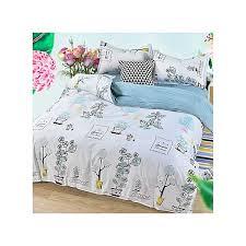 four piece new aloe cotton bedding set of four washed cotton duvet cover set twin