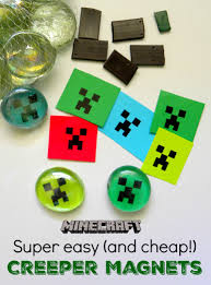 Cheap Crafts Super Easy Cheap Minecraft Magnets Great Party Favor Or