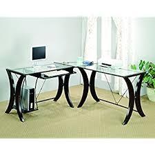 kidney shaped office desk. coaster lshape home office computer desk cappuccino finish base glass top kidney shaped e