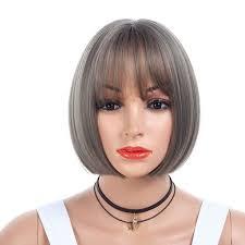 Amazoncom Maxfox Bob Hairgirls Fiber Full End Short Fluffy